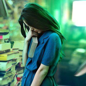 girl afraid library